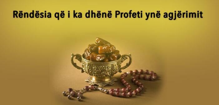 Rëndësia që i ka dhënë Profeti ynë agjërimit